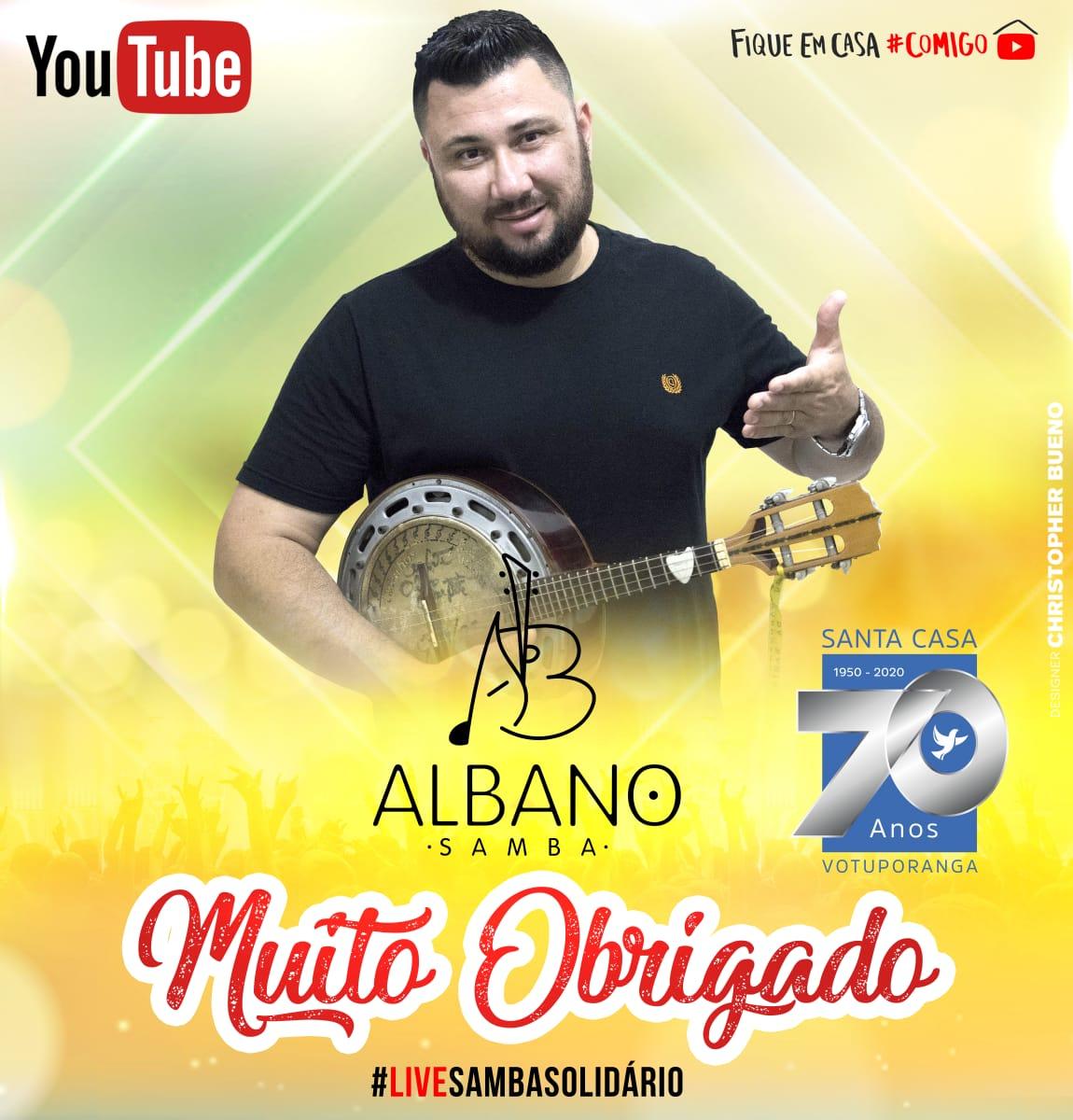 Live de samba auxilia Santa Casa de Votuporanga