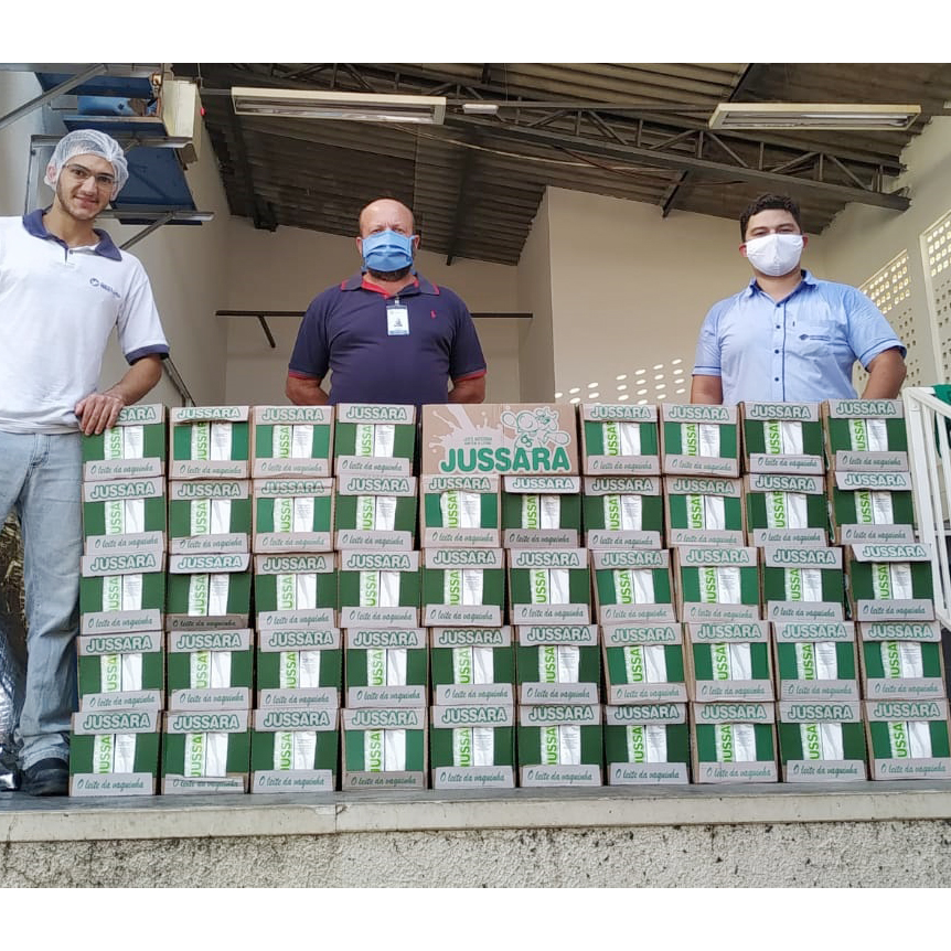 Ville Hotel Gramadão contribui com 600 litros de leite