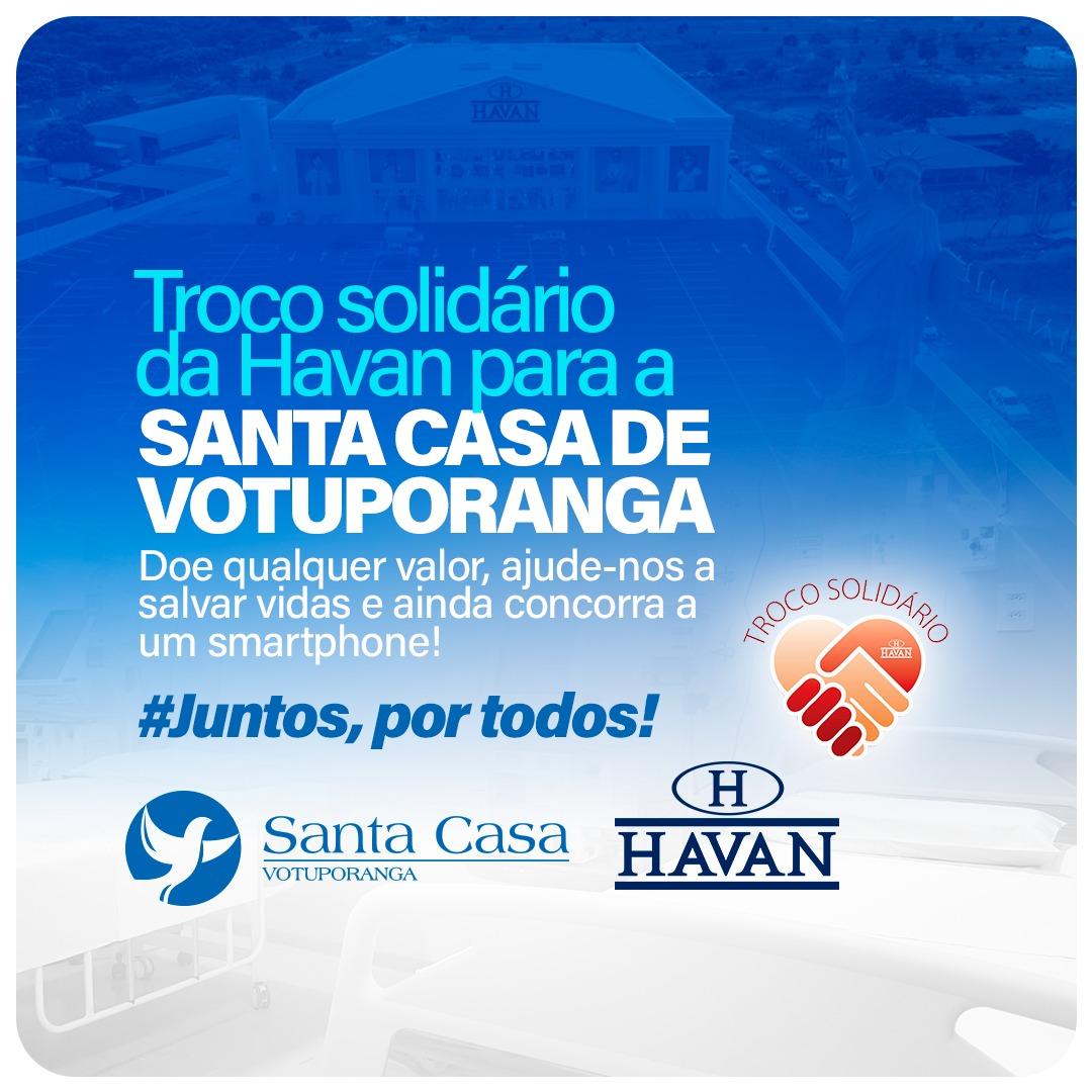 "Santa Casa participa da campanha ""Troco Solidário"" da Havan"