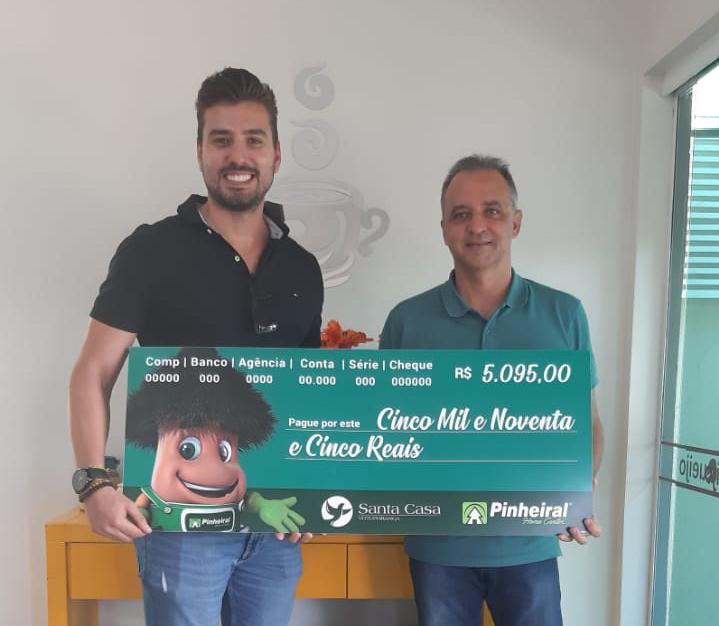 Pinheiral destina R$5.095 para Santa Casa