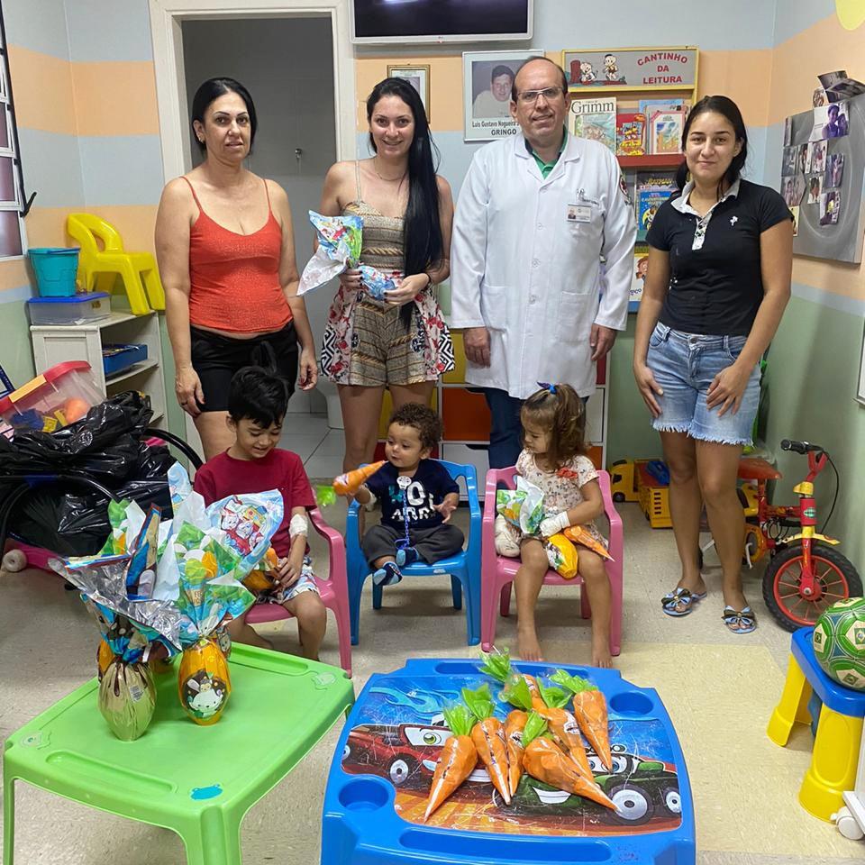 Páscoa solidária: ovos e chocolate para Pediatria