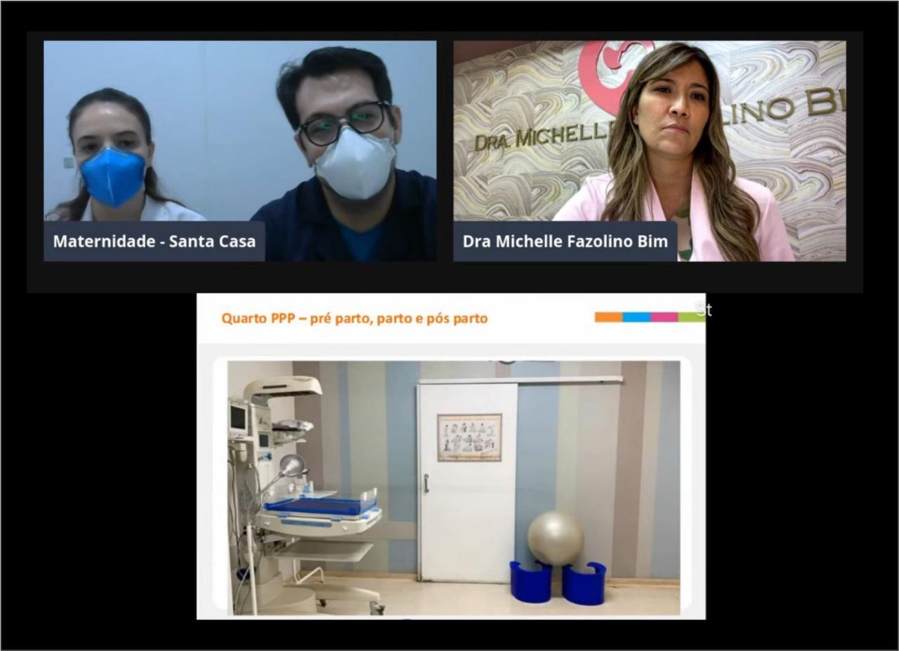 Visita on-line: gestantes conhecem Maternidade da Santa Casa