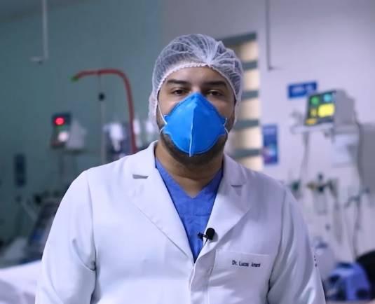 Médico da UTI pede apoio da população