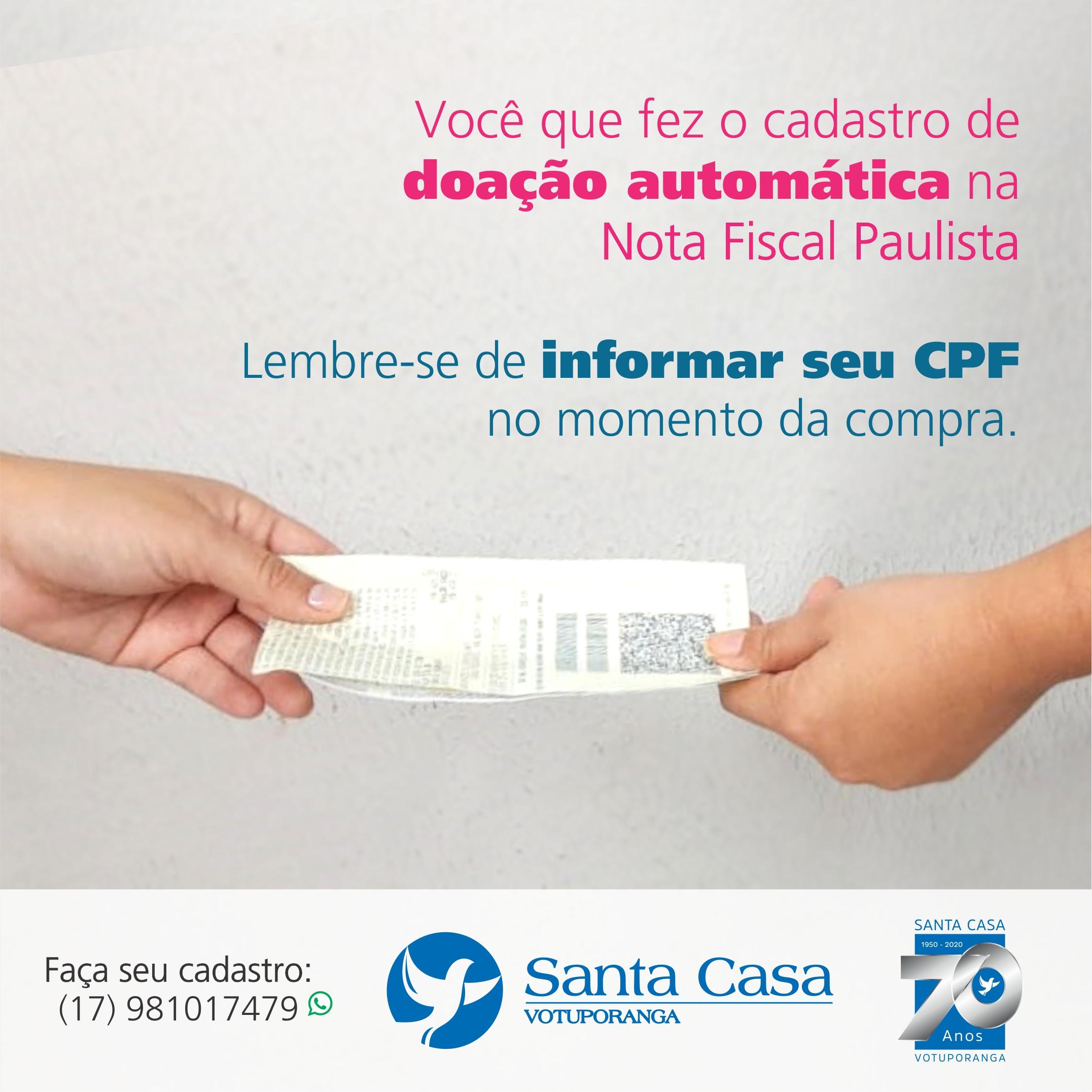 Nota Fiscal Paulista: depois do cadastro, é a hora de pedir o CPF nas compras!