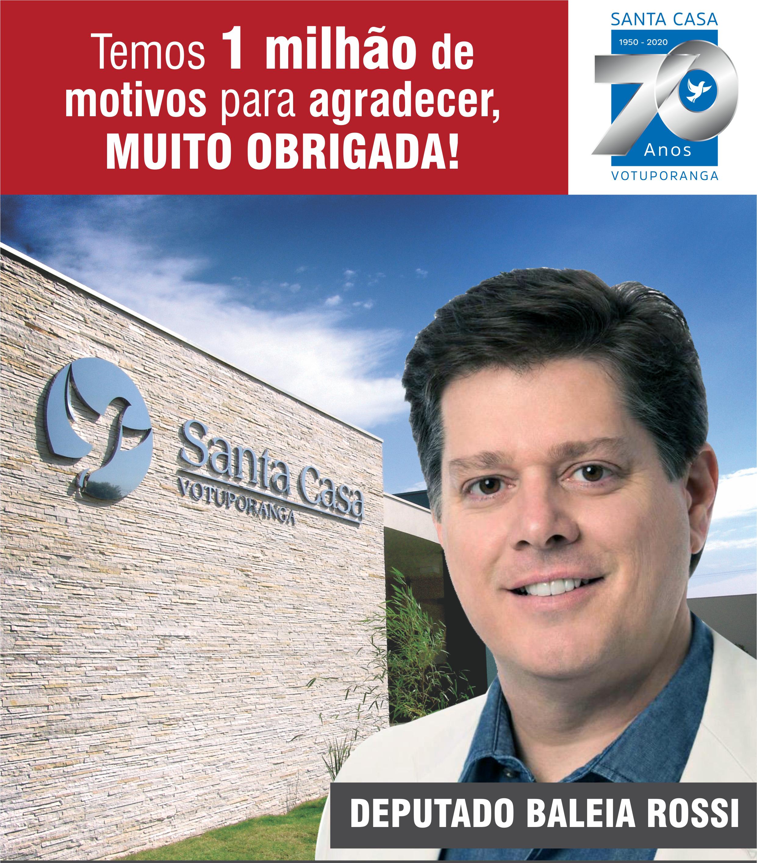 Santa Casa recebeu R$1 milhão de emenda do Baleia Rossi