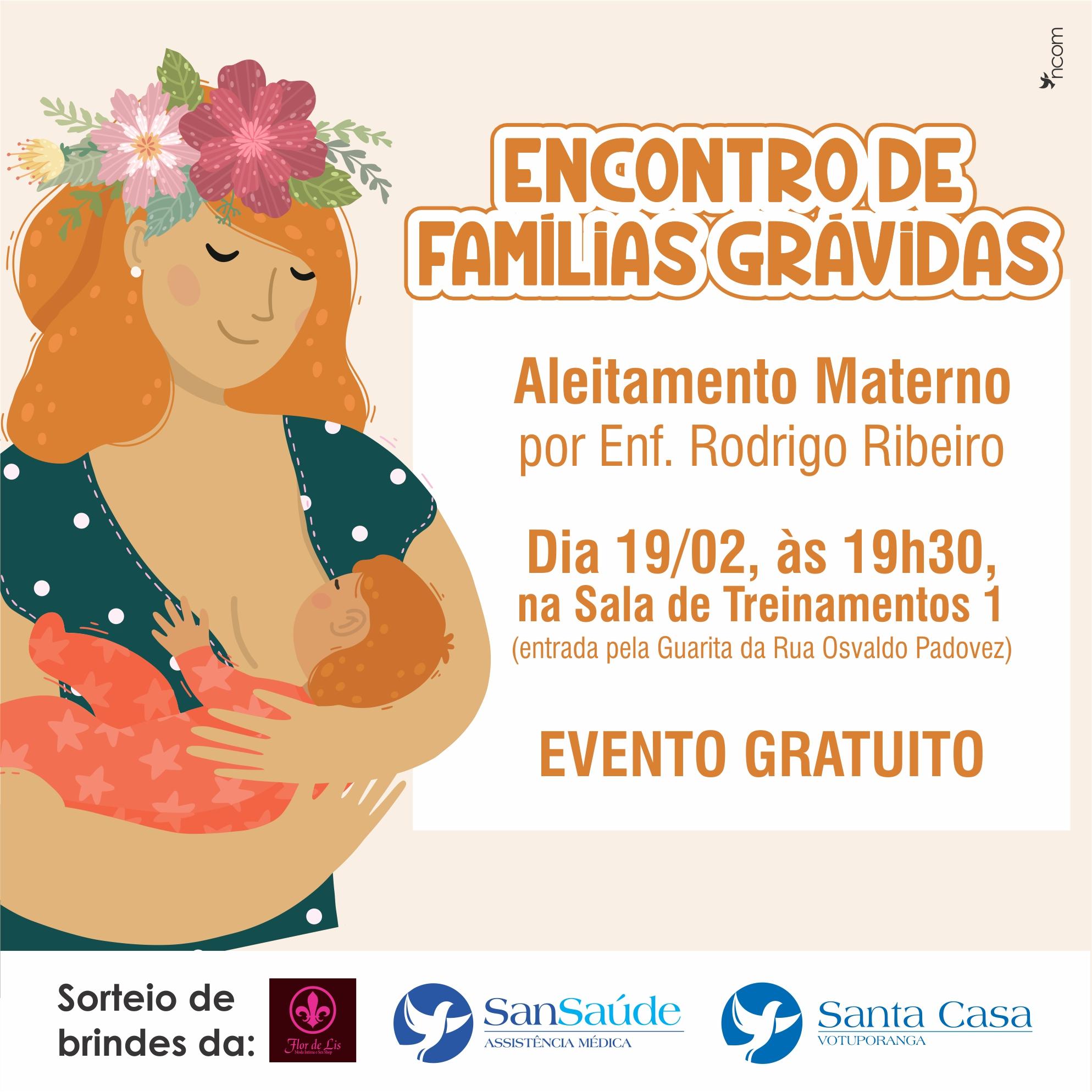 Encontro de Famílias Grávidas discute sobre aleitamento materno