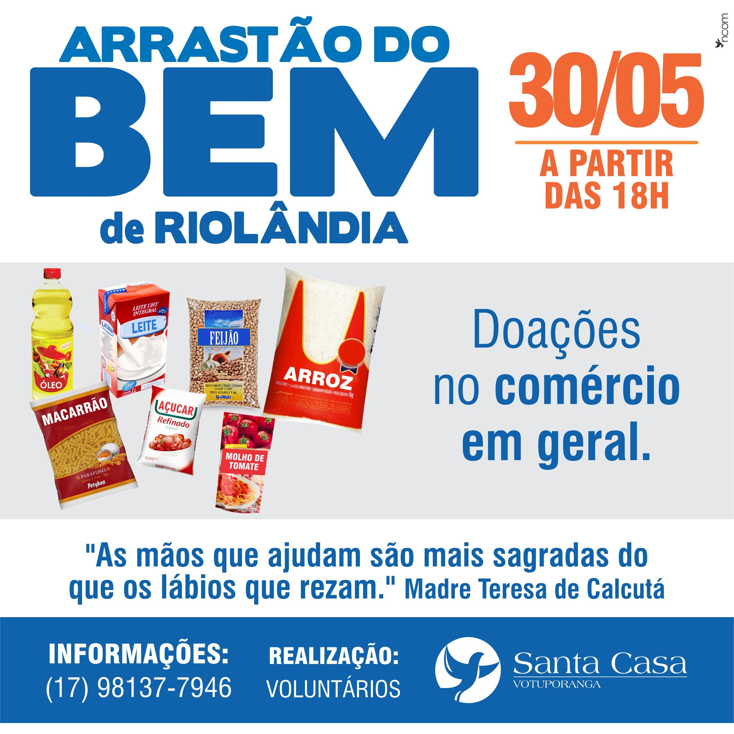 Riolândia se une para Arrastão do Bem