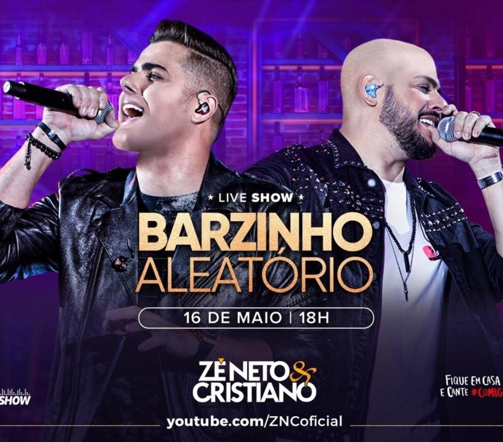 Nova live da dupla Zé Neto e Cristiano será neste sábado