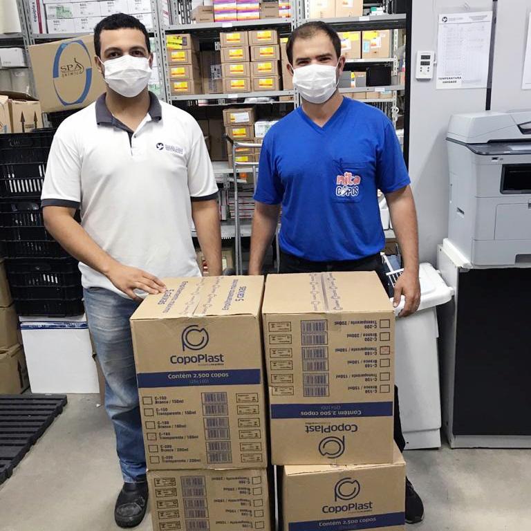 Udemo entrega 10 mil copos descartáveis