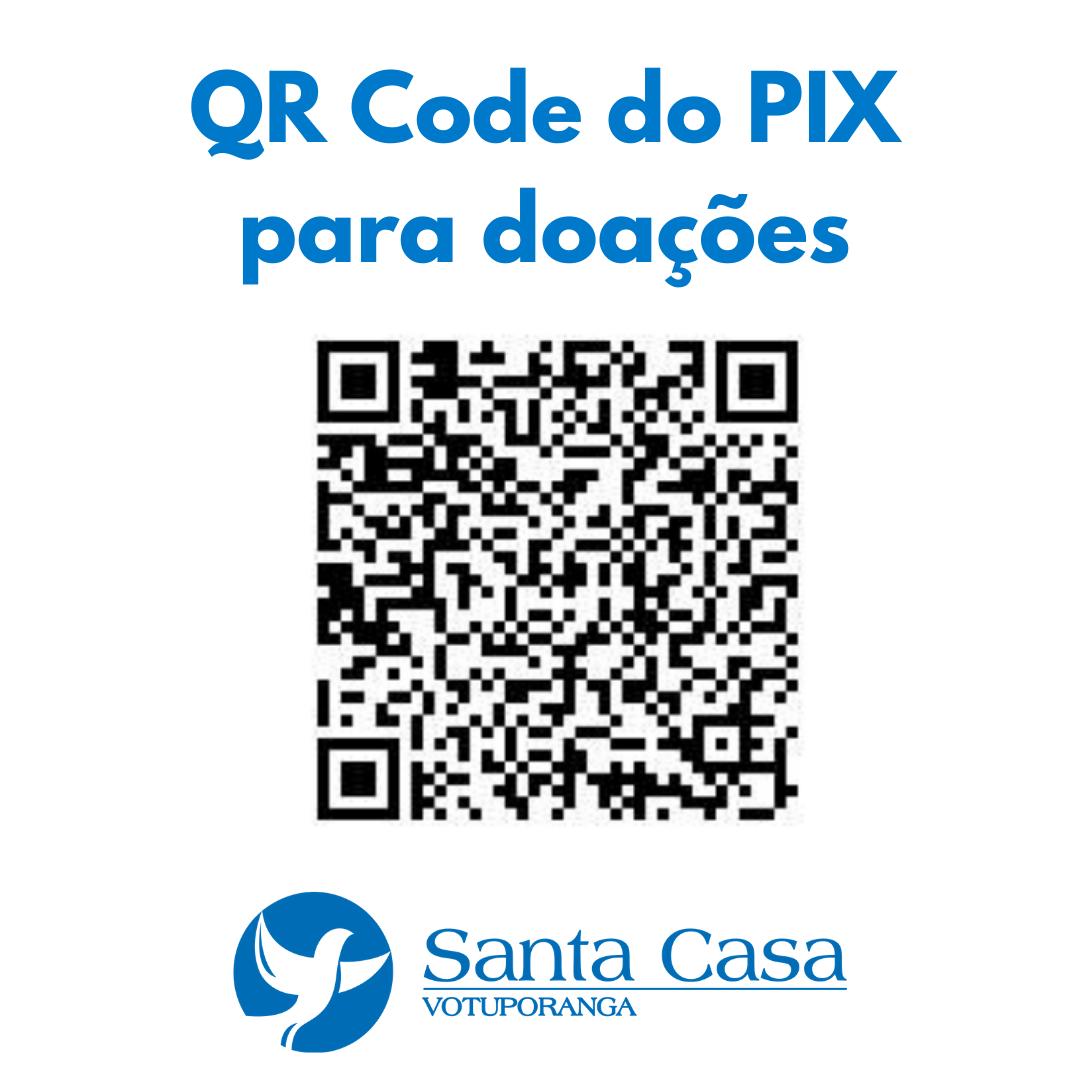 Santa Casa de Votuporanga tem PIX para doações