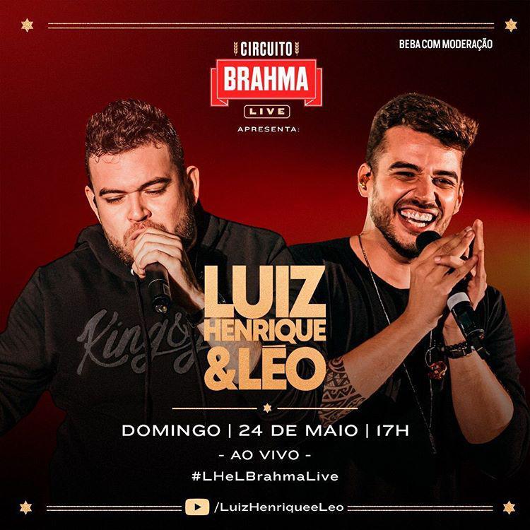 Luiz Henrique e Léo fazem live para Santa Casa