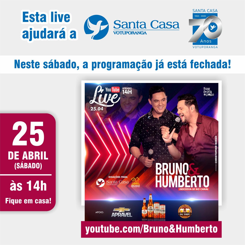 Bruno e Humberto: modão beneficente para Santa Casa