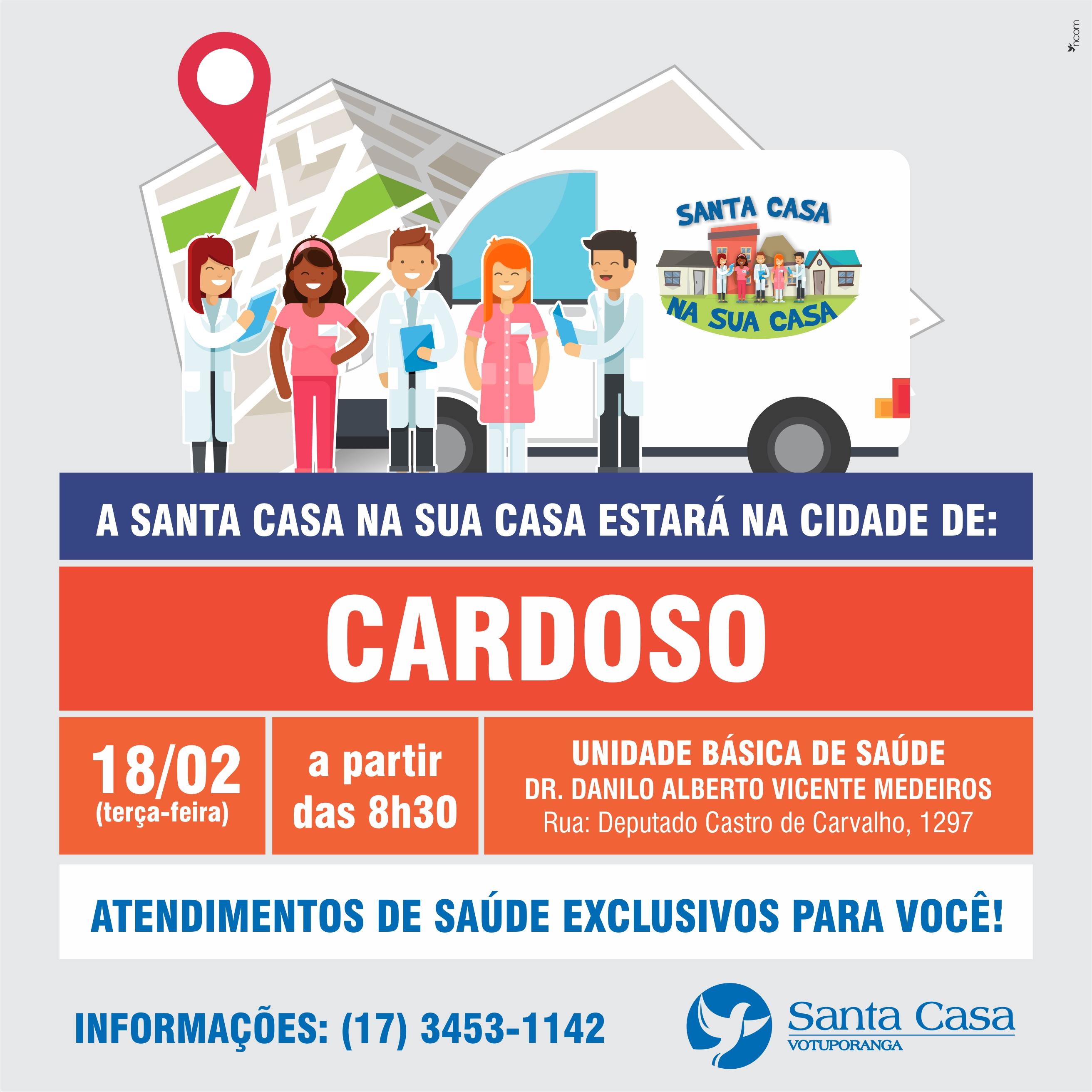 Santa Casa na Sua Casa: Cardoso recebe projeto no dia 18