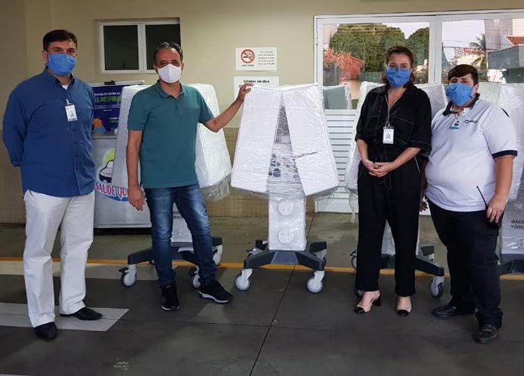 Santa Casa recebe 4 respiradores para tratamento de Coronavírus