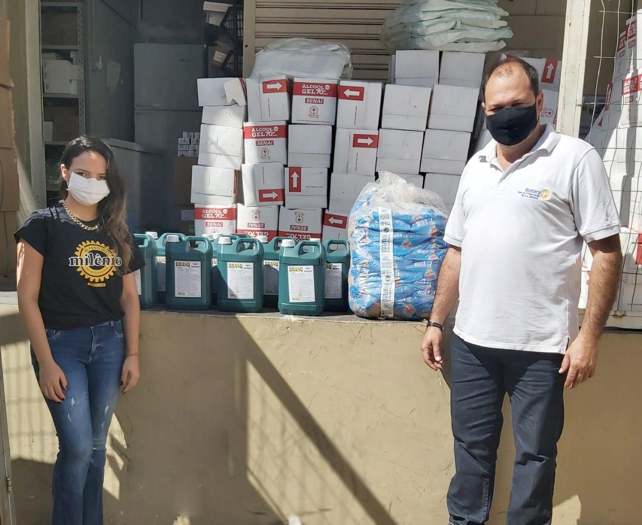 Live Solidária: Rotary Novo Milênio entrega doações para Santa Casa