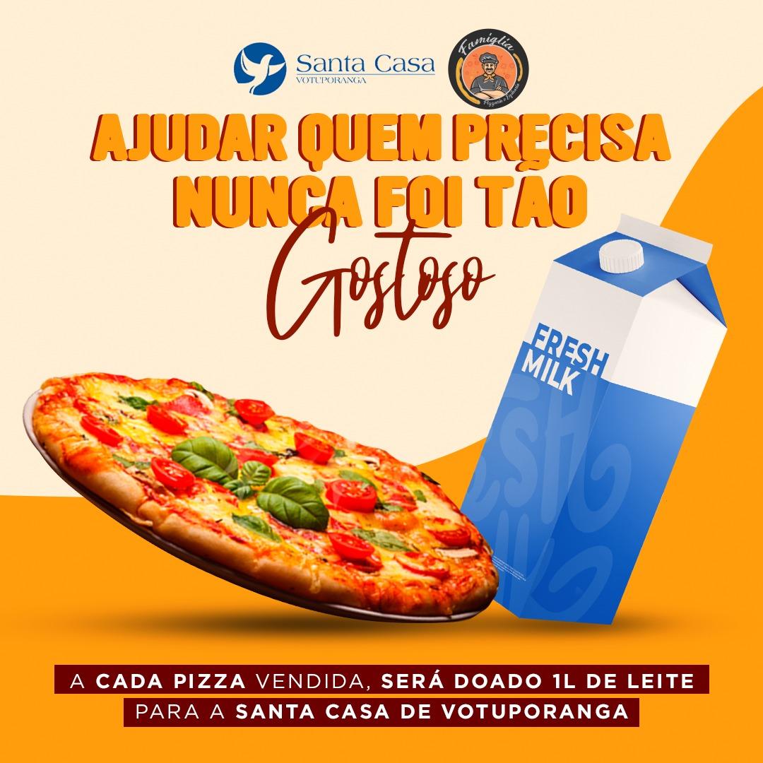 Pizzaria Famiglia faz campanha em prol da Santa Casa
