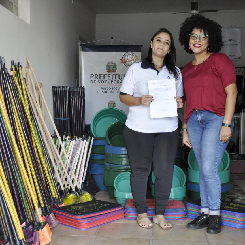 FSS repassa materiais de limpeza para Santa Casa