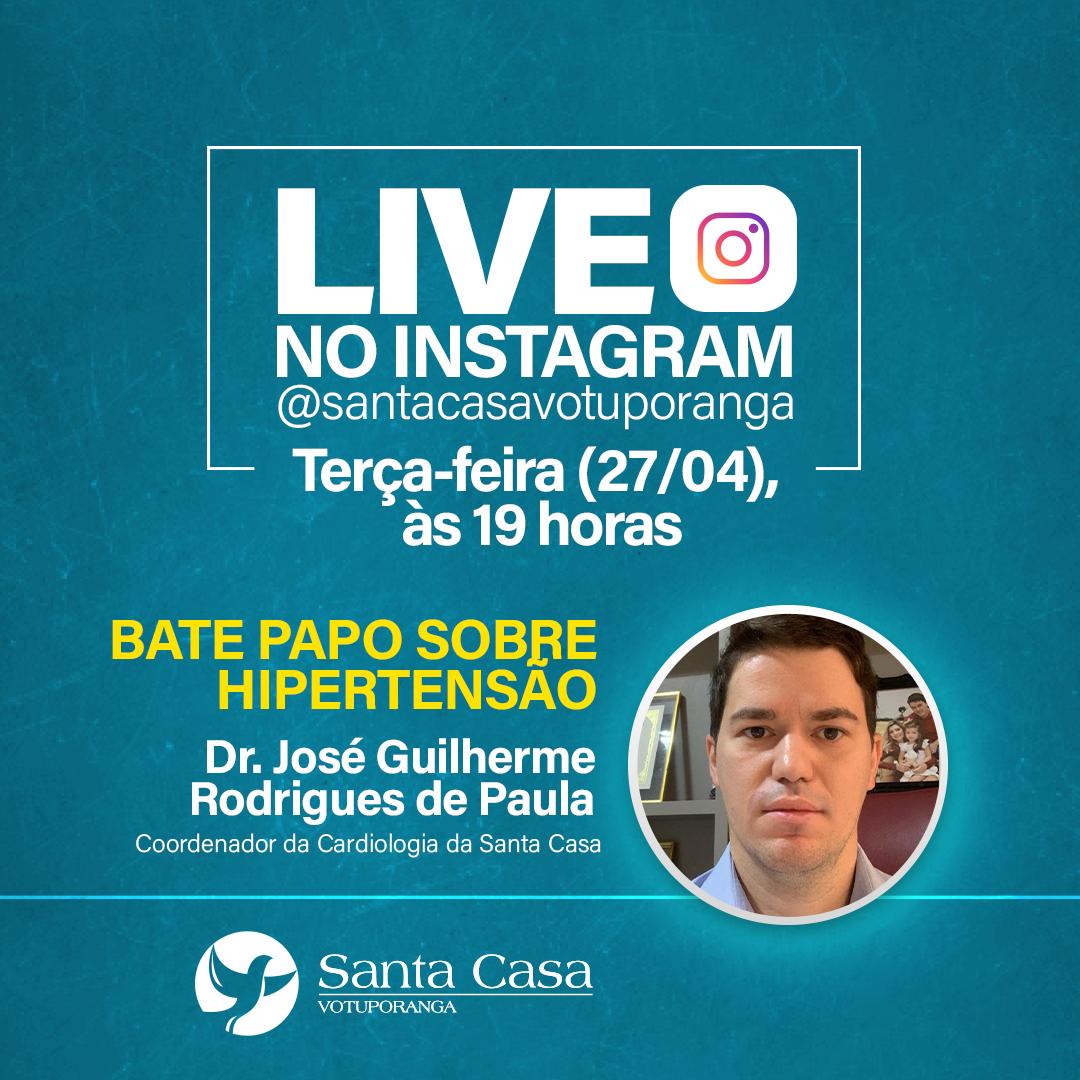Santa Casa realiza live sobre hipertensão nesta terça-feira